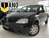 Renault Logan Expression - Preta - 2009/2010